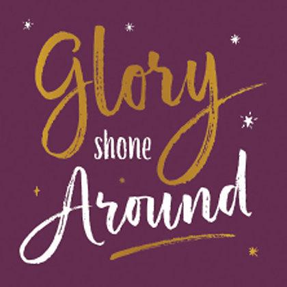 Glory Shone Around Small Square Wall Art