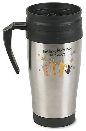 Stainless Mugs Father Help Me To Serve