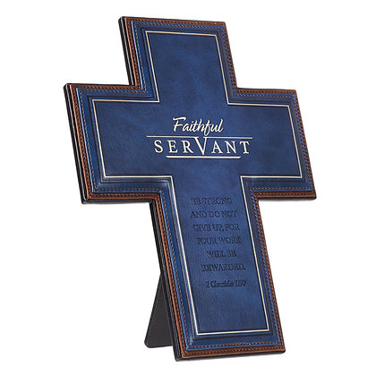 Cross Faithful Servant LuxLeather