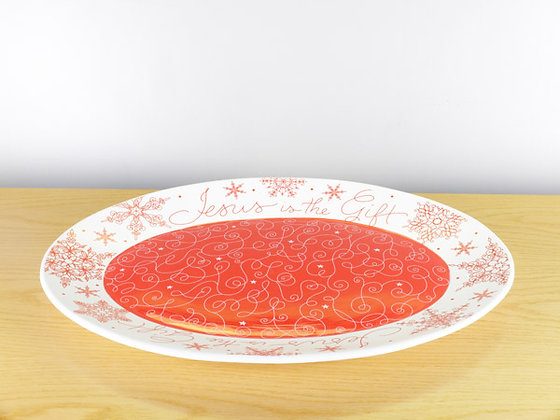 Jesus Is The Gift Oval Platter Christmas