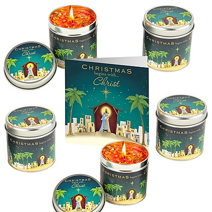 5 Nativity Candle & FREE pack of cards