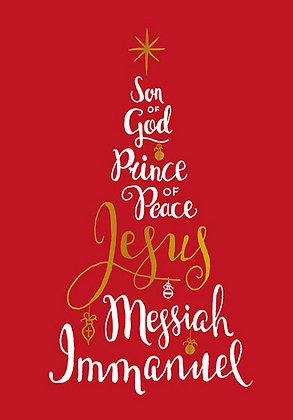 Names Of Jesus Christmas Cards Pack Of 10