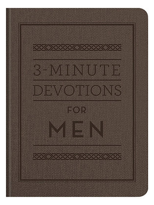 3-Minute Devotions for Men  Compiled by Barbour Staff