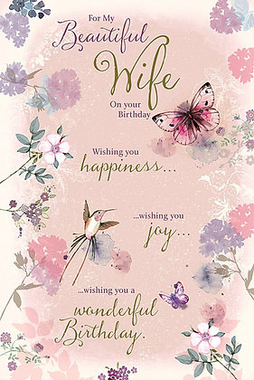Wife's birthday card