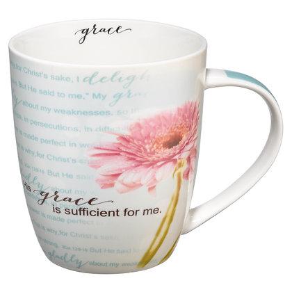 His Grace is Sufficient Coffee Mug - 2 Corinthians 12:9-11