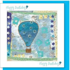 Hot Air Balloon Design Birthday Card (with verse)Men & Boys