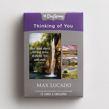 Thinking of You - Let God Be God - 12 Boxed Cards-Max Lucado -