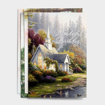 Birthday Card Box: Kinkade (12