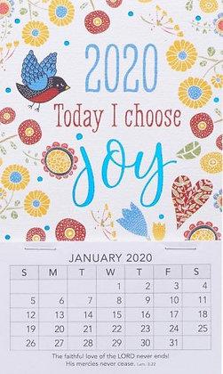 Today I Choose Joy Mini Magnetic Calendar 2020