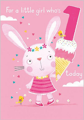 Birthday Card Age 1 Girl: He Has Made Everything Beautiful