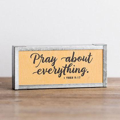 Wood & Metal Decor: Pray