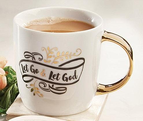 Let Go & Let God Gilded Boxed Mug