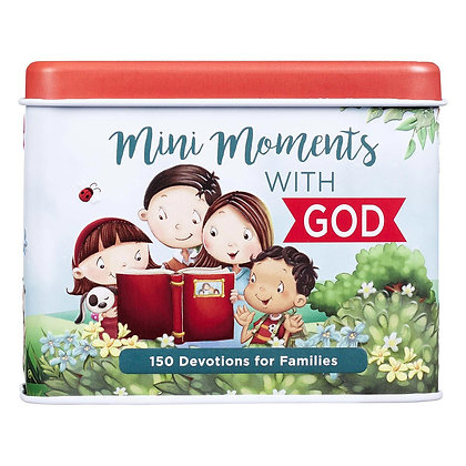 The Mini Moments with God Devotional Cards will facilitate sweet interactions