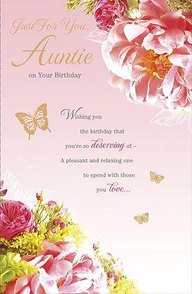 Auntie's birthday card