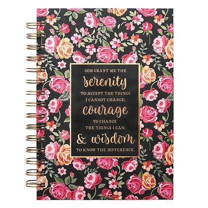 Floral Serenity Prayer Hardcover Wirebound Journal