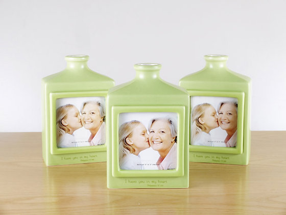 I Have You In My Heart Philippians 1;7 Christmas Photo Frame Vase: Green Each