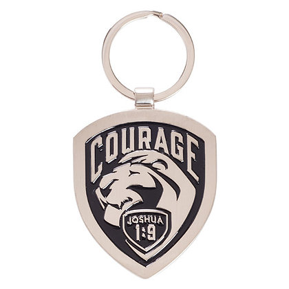 Courage, Hope And Faith Mental Keyring