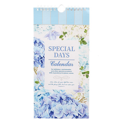 Special Days Calendar; Hydrangea - Isaiah 60:1