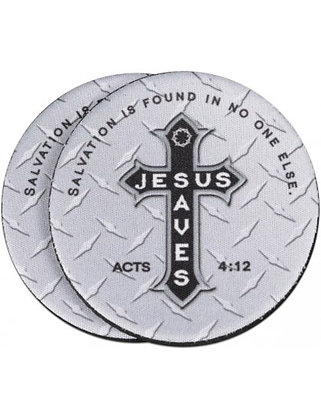Auto Coaster- Jesus Saves (2pk)