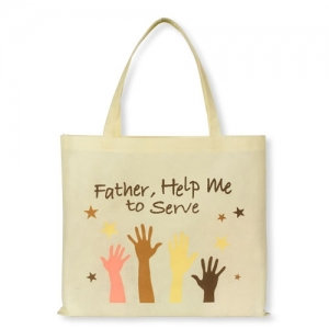 Father Help Me To Serve Tote Bag