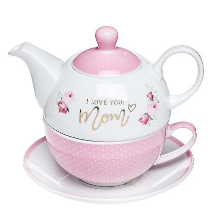 I Love You, Mom Tea Set for One