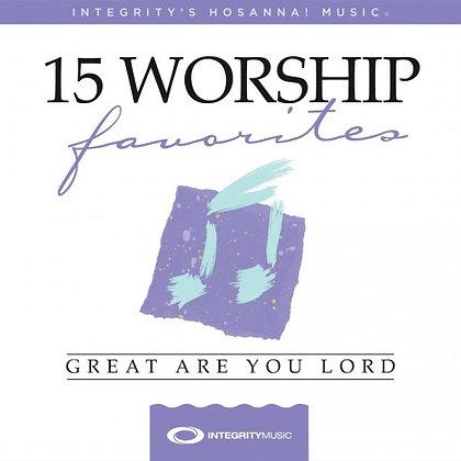 15 WORSHIP FAVOURITES CD INTEGRITY'S HOSANNA! MUSIC