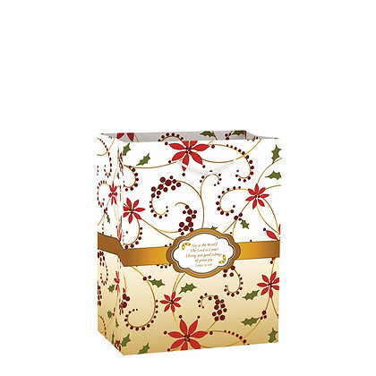 Joy To The world The Lord Is Come Swril Medium Gift Bag