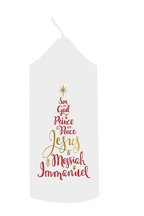 Christmas Tree Names Of Jesus Candle