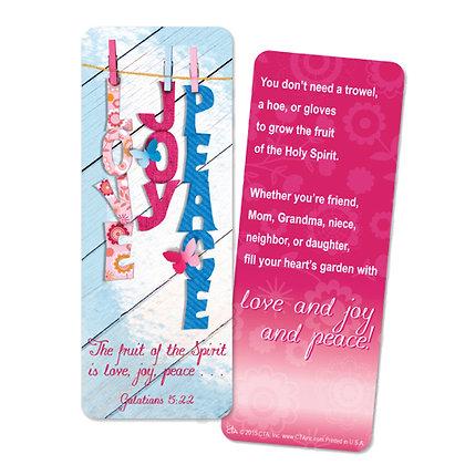 LOVE JOY PEACE JUMBO BOOKMARK