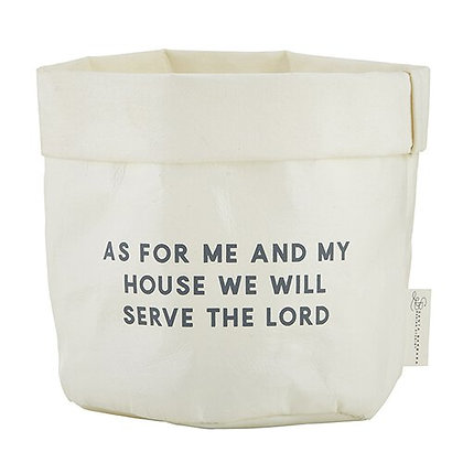 As For Me And My House We will Serve The Lord Washable Paper Holder - Medium