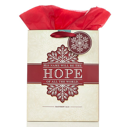 His Name Will Be The Hope Of All The World Medium Gift Bag