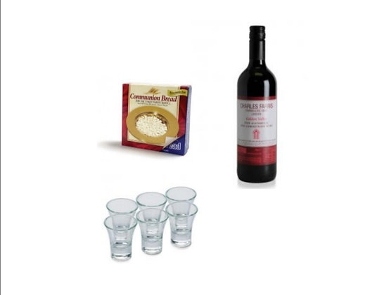 Non-Alcoholic Communion Wine 70cl Bread And Cup Set