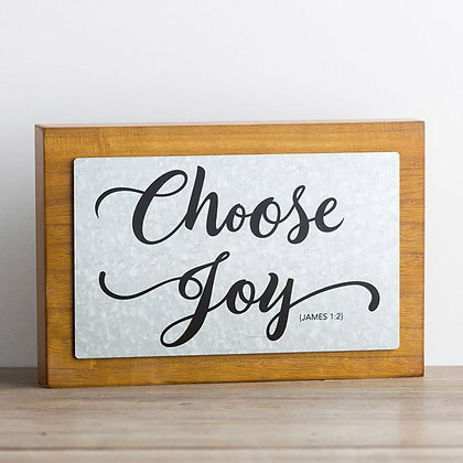Choose Joy - Wood & Metal Wall Art