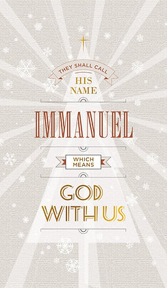 Immanuel God Is With Us Wall Art