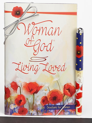 Woman Of God: Living Loved Devotional And Pen Gift Set