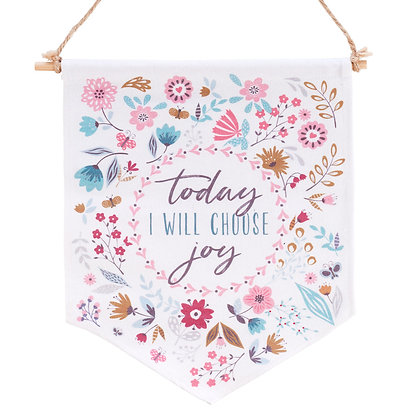 Choose Joy Wall Canvas Art Banner