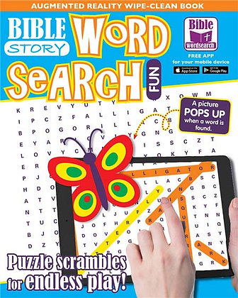 Bible Story Word Search Fun An Augmented Reality Wipe-Clean Book