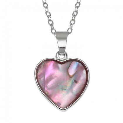 TJ HEART NECKLACE PINK