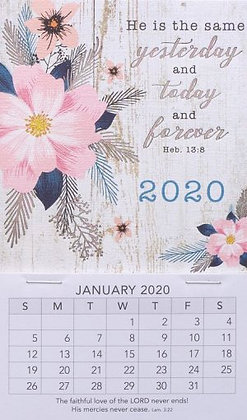 He Is The Same Mini Magnetic Calendar 2020