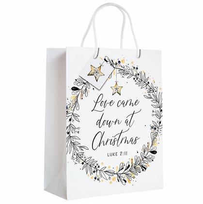 Love Came Down At Christmas Gift Bag Luke 2;11