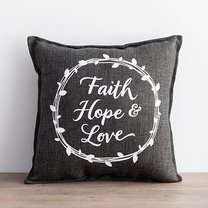 Small Pillow Faith/Hope/Love