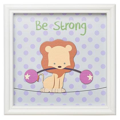 Be Strong Lion, Children's Wall Art