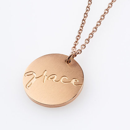 Grace Cross Disc NecklaceHardback