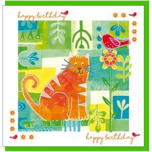Cat Design Birthday Card (with verse)