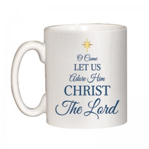 O Come Let Us Adore Him Christmas Mug