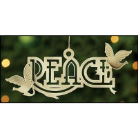 Peace And Dove Christmas Tree Hanging Ornament
