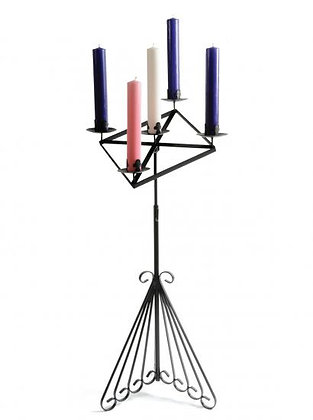 """Special Offer Advent Stand - Complete with 12"""" Scroll Base, 13"""" Sloping Gothic"""