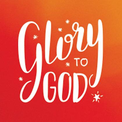 Glory To God Christmas Small Square Wall Art