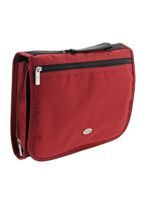 Three-Fold Organizer (Red) Polyester Bible Cover- Me