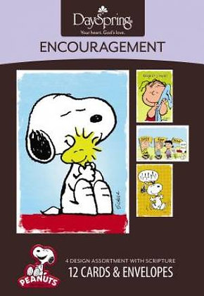 Boxed Card Encouragement by Peanuts Snoopy